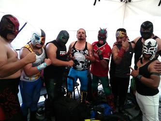 Luchadores Zacatecas - San Luis Potosi by Azrael-Luchador