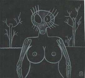 Skull-woman by mekkasop