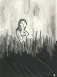 Woman In The Marsh by mekkasop