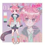 Adoptable - shouta cat boy (CLOSED)