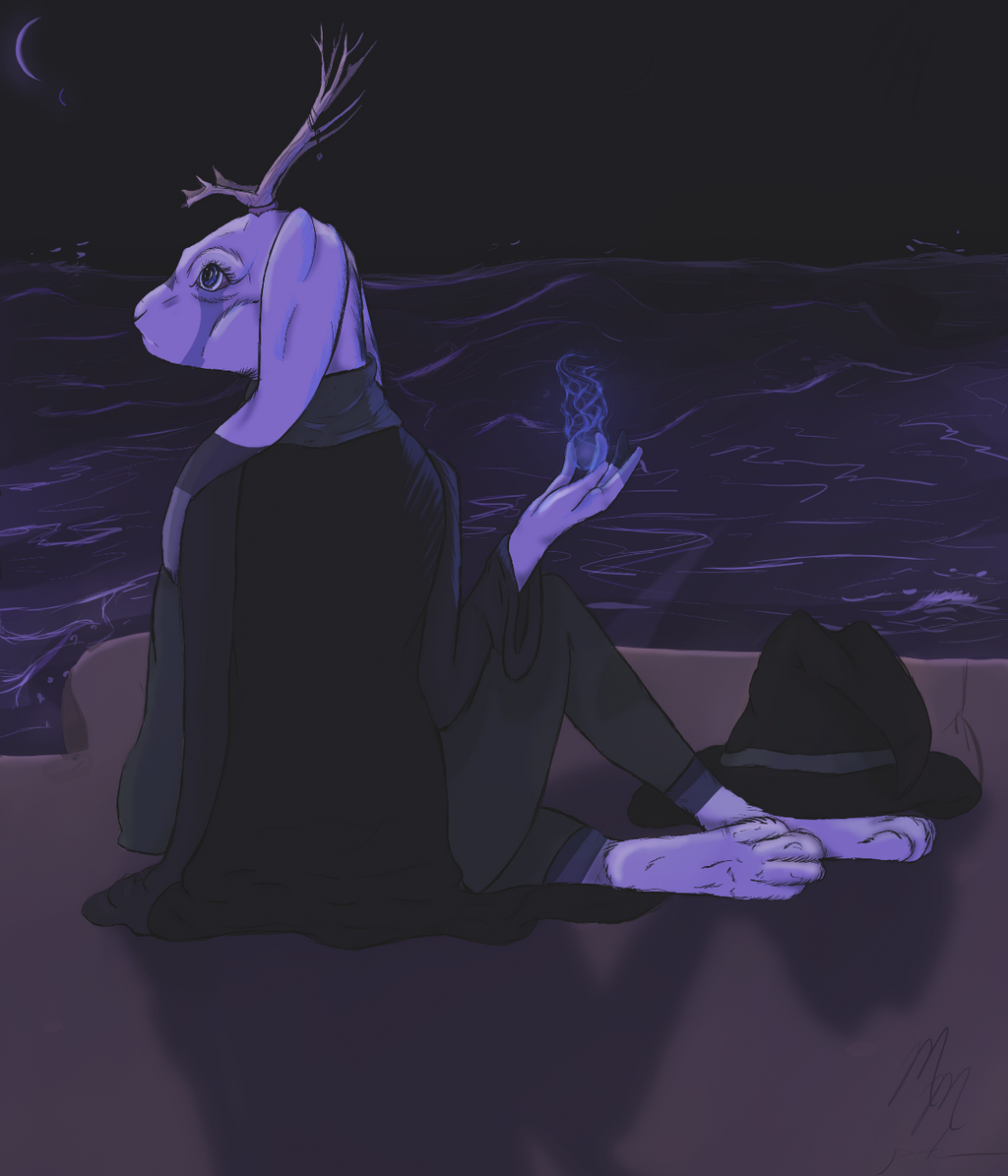 Seafront Mage by MooshieMoo