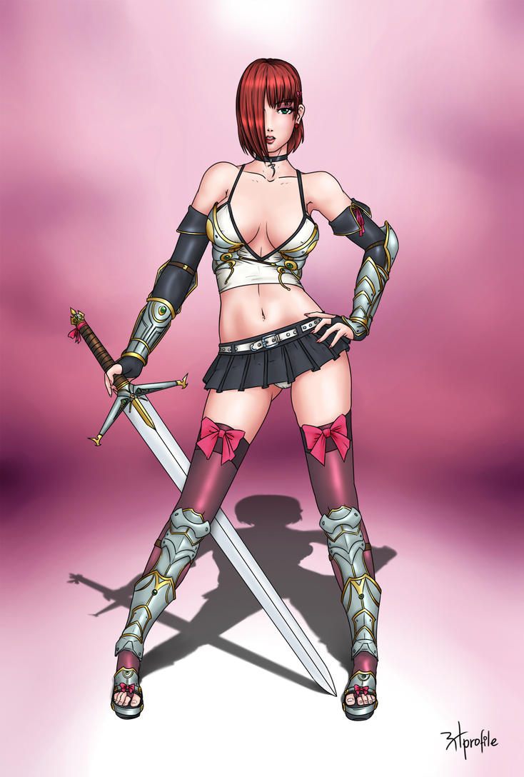 Sexy anime warrior exposed images