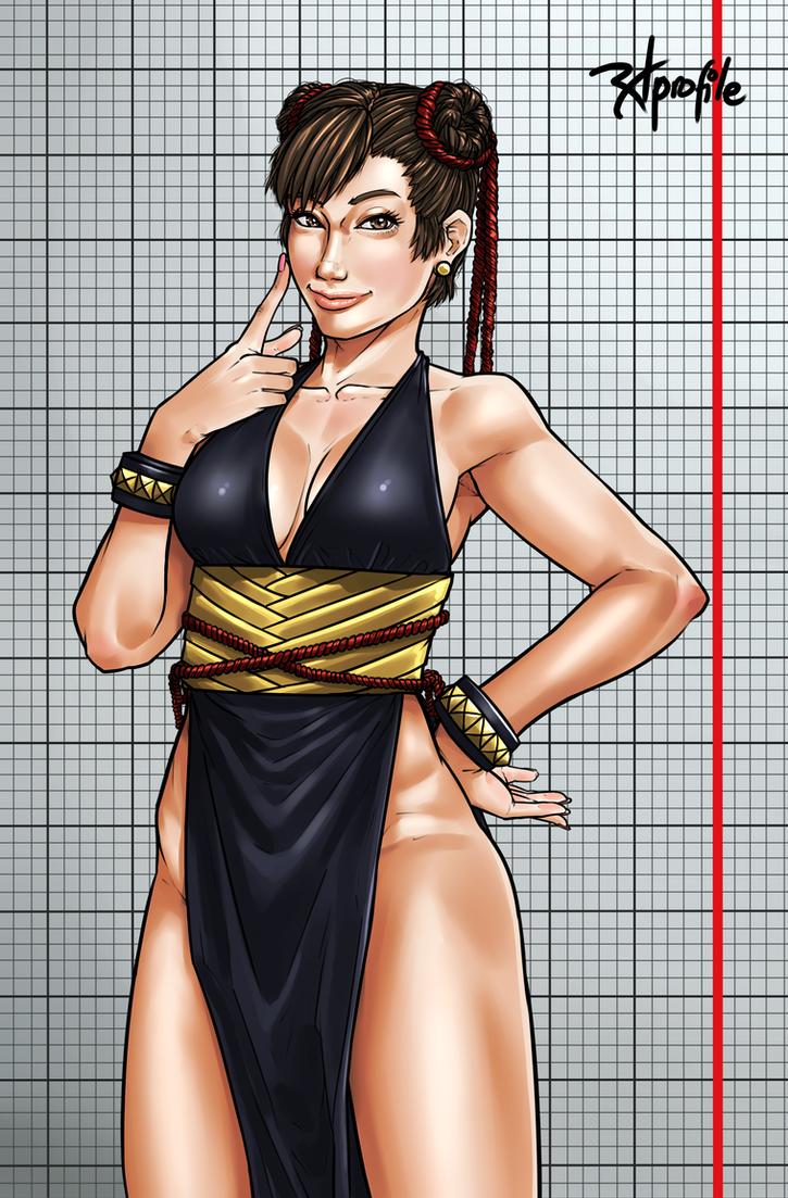 black outfit li Chun