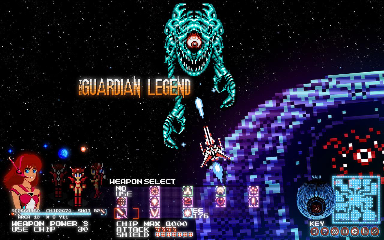 The Guardian Legend in Pixel Purity Desktop Wall
