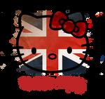 hello kitty British flag