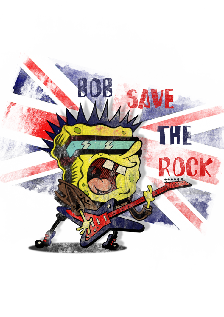 Sponge Bob save the Rock by fireflies08
