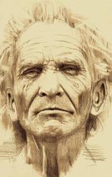 old man portrait by freezu