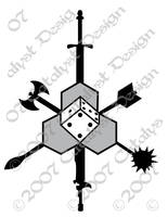 TotalCon logo, 'Chaosium'