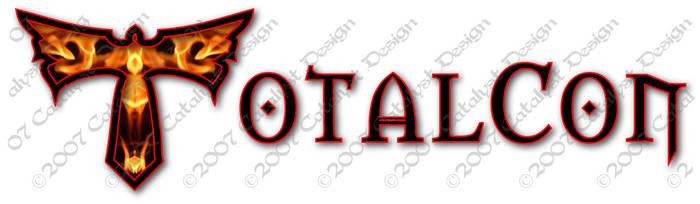 TotalCon logo, phoenix+text