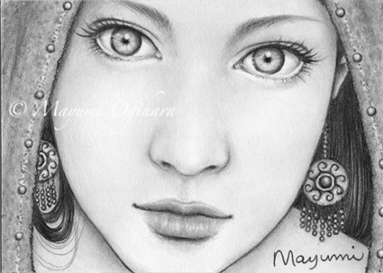The Seer - ACEO by MayumiOgihara