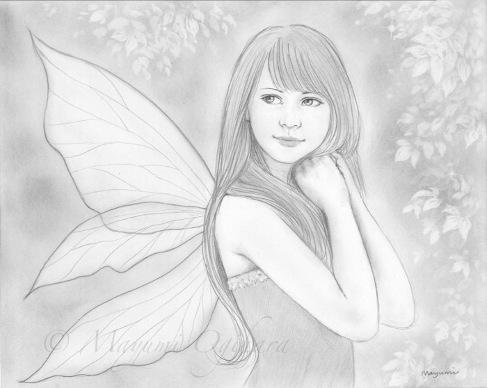 Beautiful Fairy Sketches Summer fairy - sketch by