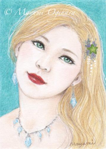 Gemstone: Aquamarine (ACEO) by MayumiOgihara
