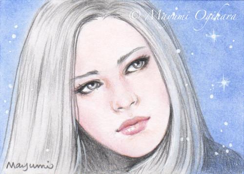 Silver Beauty (ACEO) - sketch by MayumiOgihara