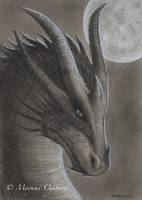 Dragon Moon - sketch by MayumiOgihara