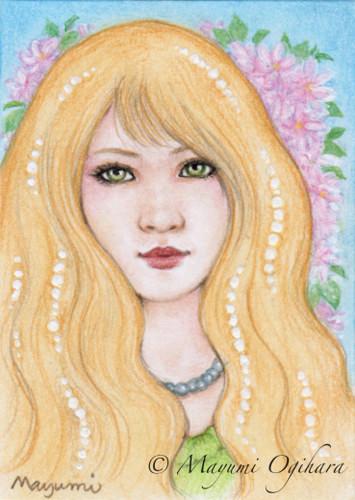 Gemstone: Pearl (ACEO) by MayumiOgihara