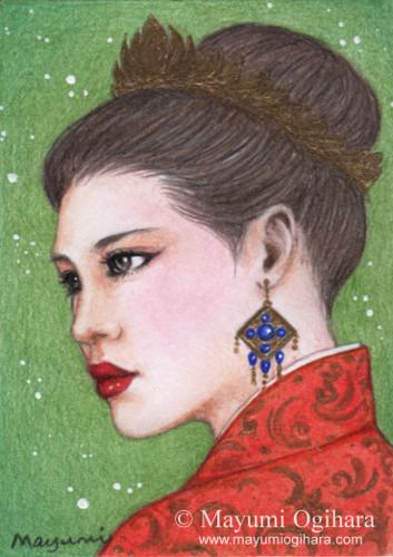 Gemstone: Sapphire (ACEO) by MayumiOgihara