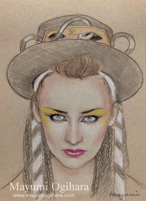 Karma Chameleon - sketch by MayumiOgihara