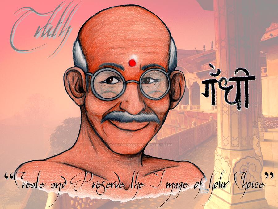 Mahatma Gandhi ji by harrimaniac27