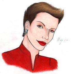Kira Nerys -Portrait- by harrimaniac27