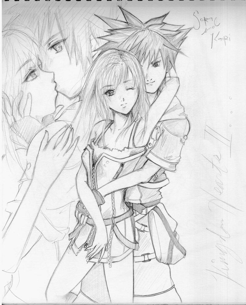 Kairi x Sora Kingdom Hearts Fan Art by forsakendays on DeviantArt