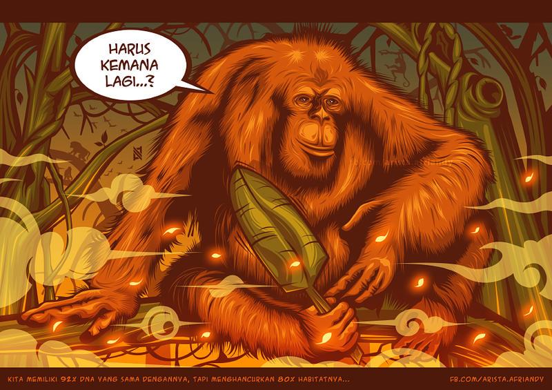 Orangutan by AristAF