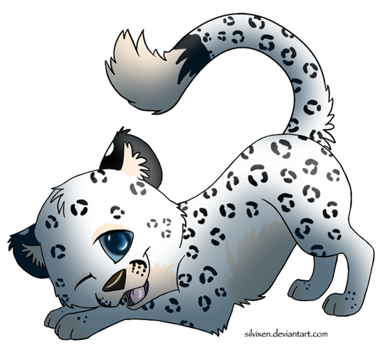 Cute Snow Leopard Drawing