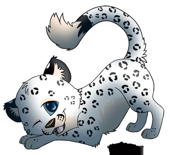 chibi snow leopard by silvixen on deviantart rh silvixen deviantart com snow leopard clipart black and white Snow Leopard Cartoon