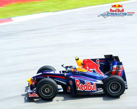 F1 Car Cartoon Red Bull Racing
