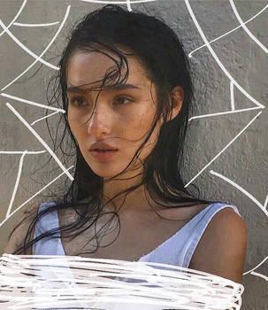 Siobhan's photoshoot ft a bit of webbing by thegoldenorbweaverr