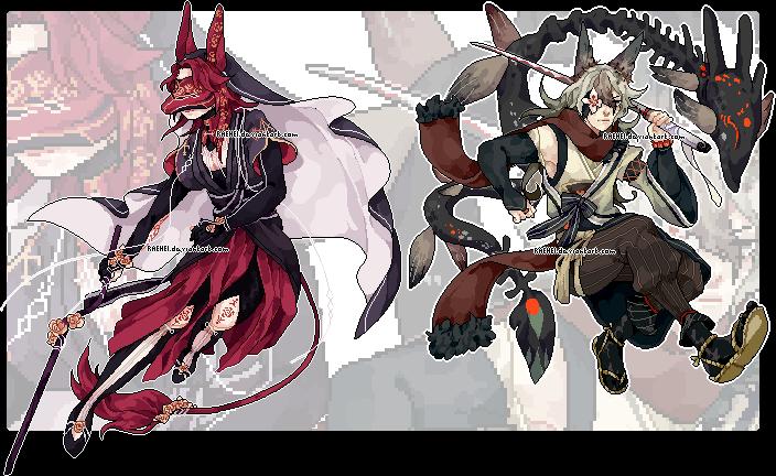 Oiran and Kiryuu