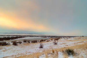 Sun Rising Over Casper Mountain by DeTea