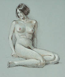leaning figure - life drawing by postapocalypsia