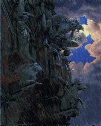 Gargoyle by postapocalypsia