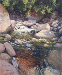 Mountain Stream by postapocalypsia