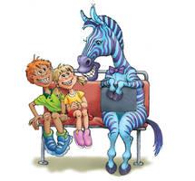 Kids meet Zebra by postapocalypsia