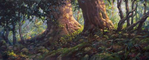 Forest Girl by postapocalypsia