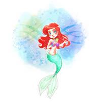 Chibi Ariel by YukiHyo