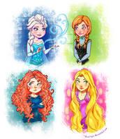 Disney Portraits by YukiHyo