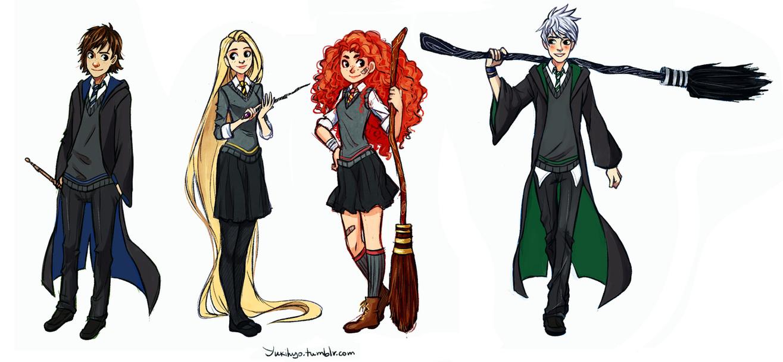 The Big Four: Hogwarts AU by YukiHyo
