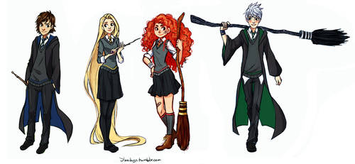 The Big Four: Hogwarts AU