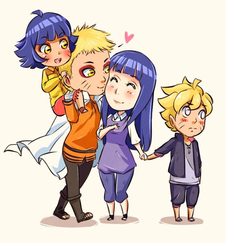 Chibi Uzumaki Family by YukiHyo