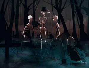 Three dead Gentlemen