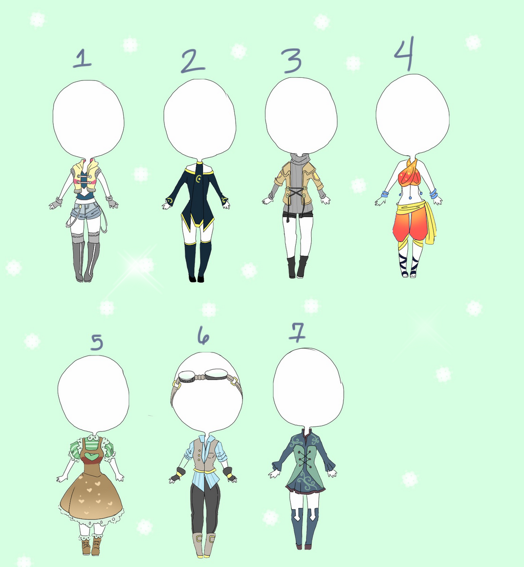 outfit adopts batch 2 [closed] by Teafairyadopts