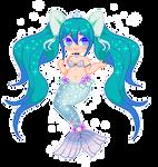 Mermaid Princess Miku! by Ceirios