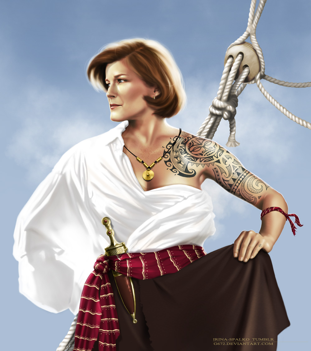 mirror universe pirate janeway by g672 on deviantart