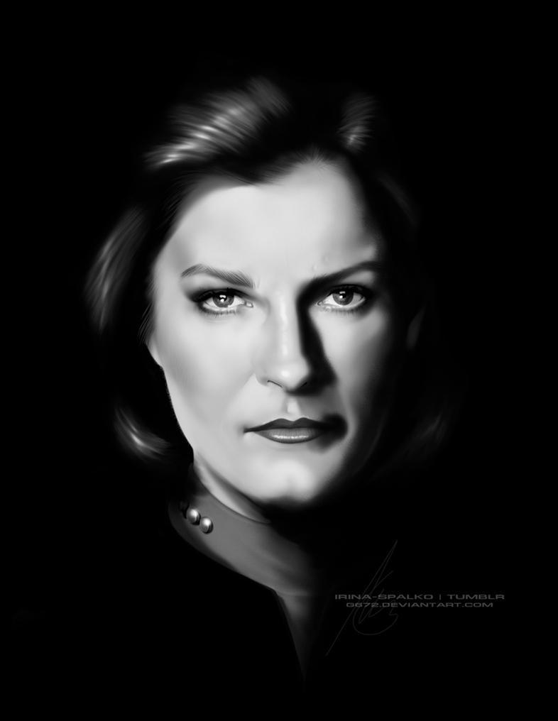 Portrait of Captain Janeway by G672