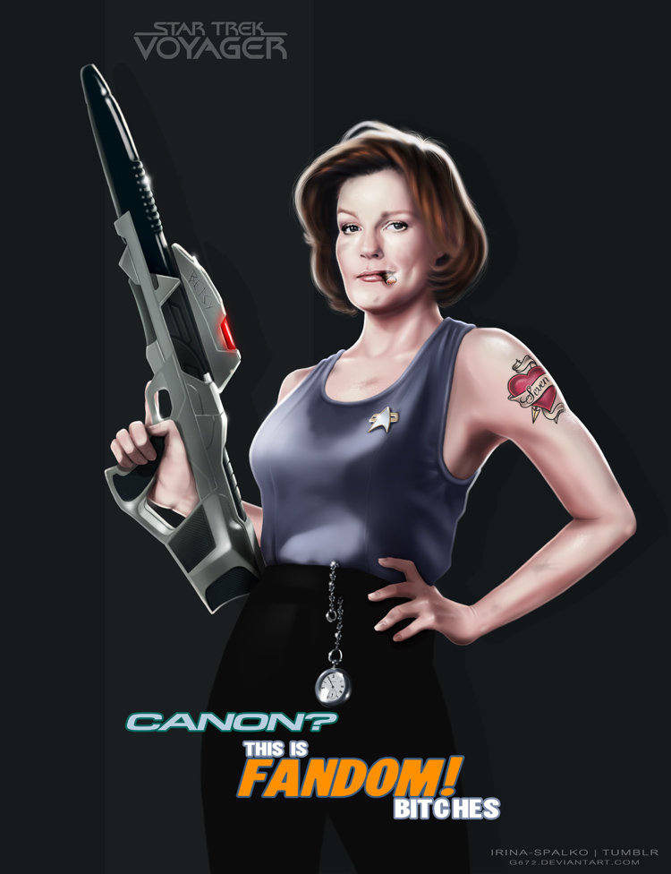 Janeway and fandoms by G672