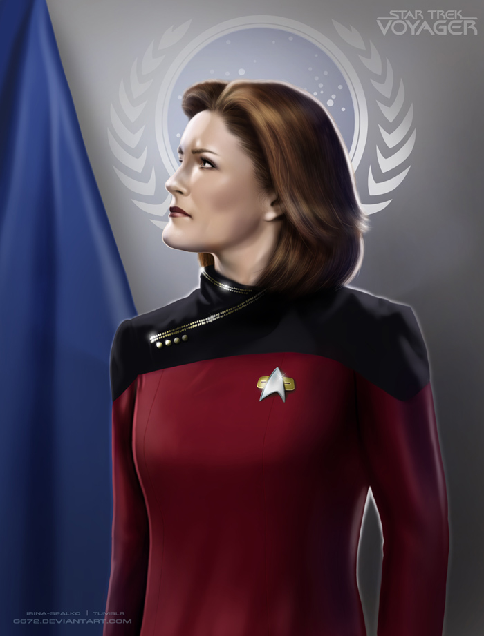Captain janeway by g672 on deviantart for Mirror janeway