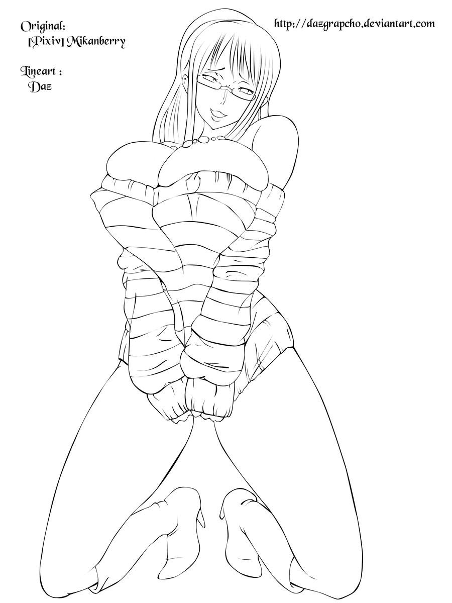 One Piece Lineart : Nico robin strongworld lineart by dazgrapcho on deviantart