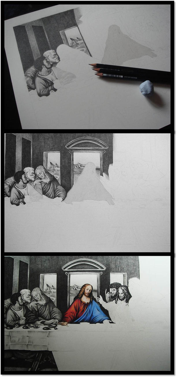 The Last Supper WIPs by pbird12